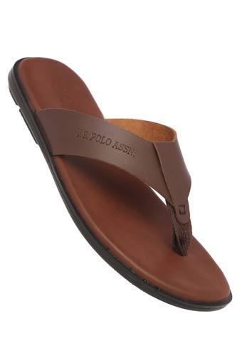 U.S. POLO ASSN. -  BrownSlippers & Flip Flops - Main