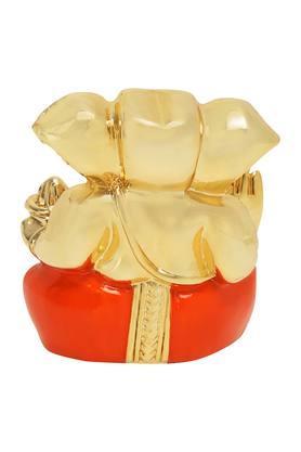 Gold Finish Subh Labh Ganesha Idol