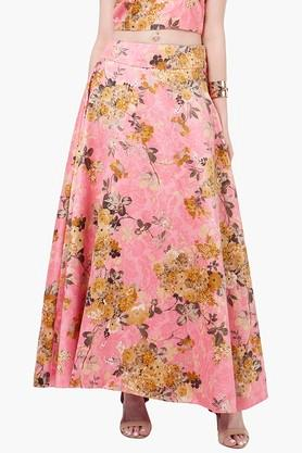 INDYA Womens Printed Maxi Skirt - 201845618