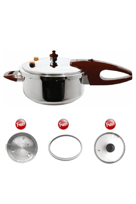 WONDERCHEFPressure Cooker By Chef Sanjeev Kapoor - 3Ltrs (Induction Base)