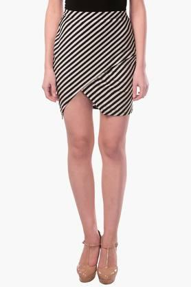 MISS CHASE Womens Striped Short Skirt - 202511983_7086