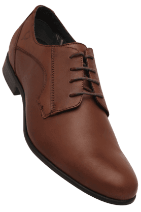 ALLEN SOLLY Mens Leather Lace Up Smart Formal Shoe - 8507718
