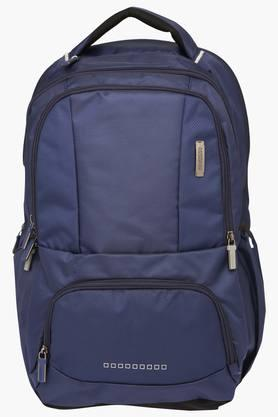 Unisex 2 Compartments Zipper Closure Backpack