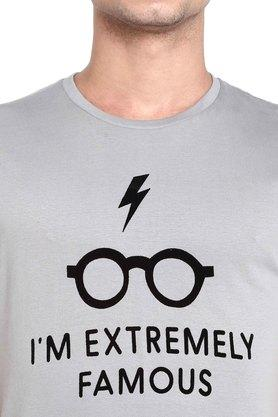Mens Round Neck Harry Potter Print T-Shirt