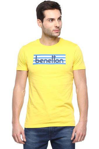 UNITED COLORS OF BENETTON -  YellowT-Shirts & Polos - Main