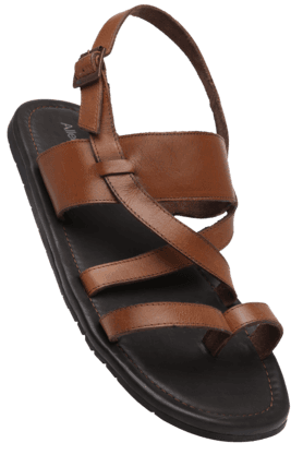 ALLEN SOLLY Mens Ankle Buckle Closure Sandal