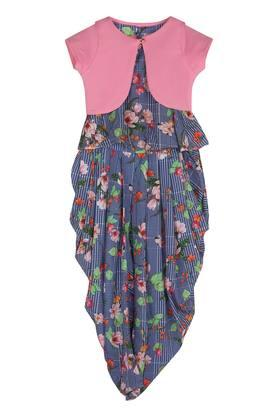 TINY GIRL - Royal Blue FLORAL DRESSES FOR GIRLS - Main