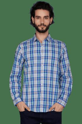 Lee Formal Shirts (Men's) - Mens Full Sleeves Slim Fit Casual Check Shirt