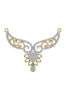 TARA JEWELLERSWomens 18 Karat Gold And Diamond Mangalsutra Pendant - 200944708_9999