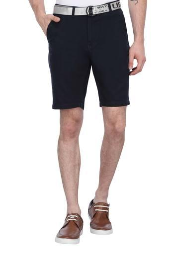 VETTORIO FRATINI -  Navy Shorts & 3/4th - Main