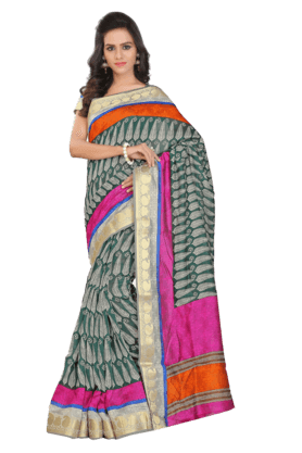 DEMARCA Women Art Silk Saree (Buy Any Demarca Product & Get A Pair Of Matching Earrings Free) - 200875638