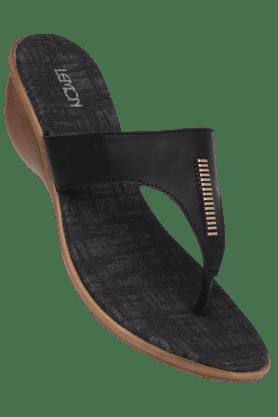 LEMON & PEPPERWomens Soft Footbed Slipon Wedge Sandal