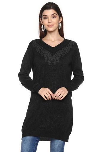 DISHA PATANI FOR GLAM LIFESTYLE -  BlackSweatshirts - Main