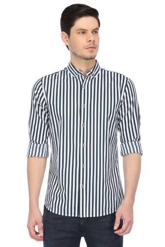 Mens Button-Down Collar Striped Shirt