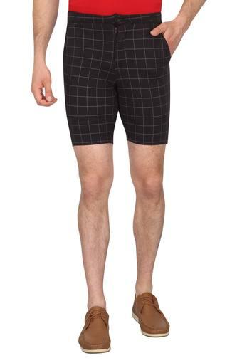 Mens 3 Pocket Check Shorts