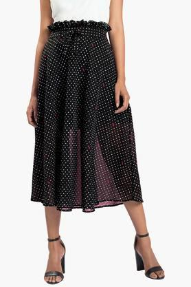 FABALLEY Womens Printed Calf Length Skirt - 202221766