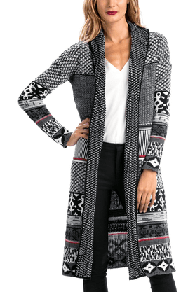 DESIGUAL Women Printed Long Sweater Shrug