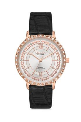 Womens Sparkle Silver Dial PU Analogue Watch - FA9-SPL02R62I