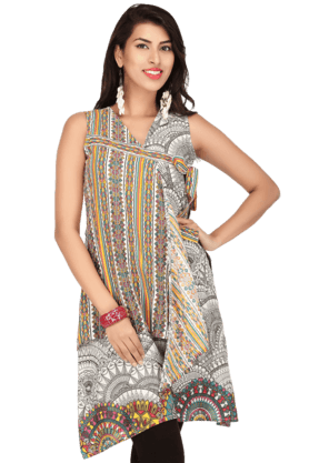 IMARA Women Cotton Printed Kurta - 200114358