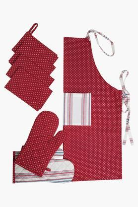 BLISS Multi Colour Printed Kitchen Linen Set (Kitchen Towel Set (4 Pcs) - 202234025