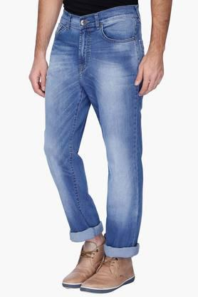 Mens Heavy Wash Whiskered Jeans