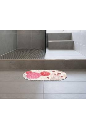 Oval Floral Printed Shower Mat
