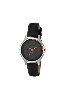 Womens Grey Dial Leather Analogue Watch - NK6138SL02