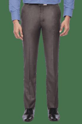 STOPMens Flat Front Slim Fit Slub Trouser