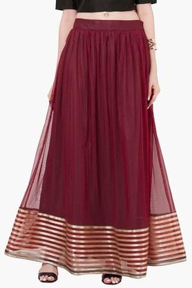 INDYA Womens Striped Maxi Skirt - 201845603