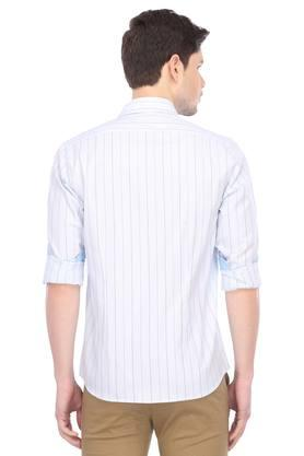 Mens Slim Collar Stripe Casual Shirt