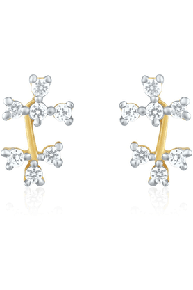 MAHI Mahi Gold Plated Bouquet Of Love Earrings With CZ Stones For Women ER1191486G