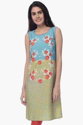 DESI BELLE Womens Printed Round Neck Kurta - 201828917
