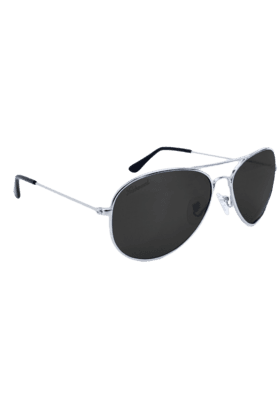 KNOCKAROUND Mile High Unisex Sunglasses Silver/POLARIZED Smoke-MHGL1007 (Use Code FB20 To Get 20% Off On Purchase Of Rs.1800)