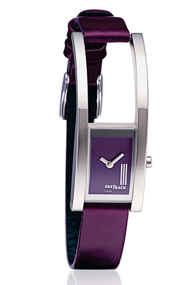 FASTRACK Ladies Watch With Purple Leather Strap - NE2166SL02