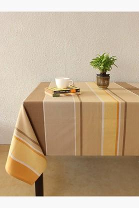 The Barcode Stripes 100% Cotton Table Cover - Beige - 202274693