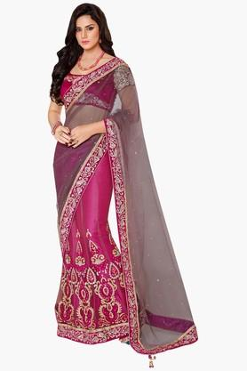 MAHOTSAVWomens Embellished Designer Lehenga Saree