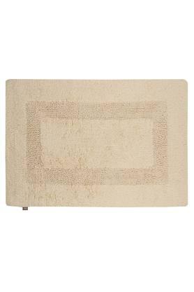 Slub Textured Rectangular Bath Mat Pack of 2