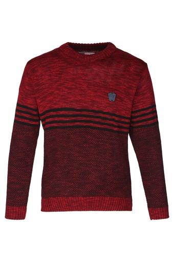 Boys Round Neck Textured Pullover
