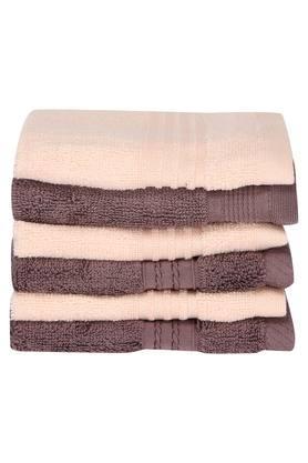 Stripe Textured Face Towel Set of 6