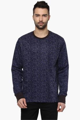 BLUE SAINT Mens Navy Blue Printed Sweatshirt  ...