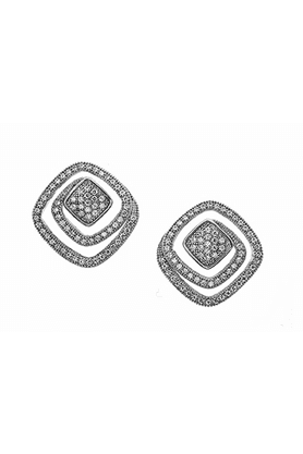 REAL EFFECT Embellished Spiral Stud Earrings
