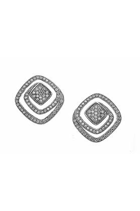 Embellished Spiral Stud Earrings