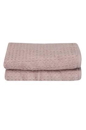 Solid Textured Hand Towel Set of 2