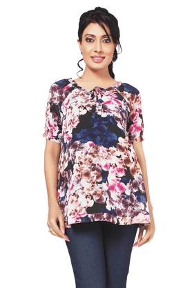 NINE MATERNITY Maternity Floral Printed Blouse With Tie-up At Front