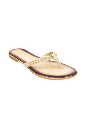 Womens Embellished Strap Slip On Flats