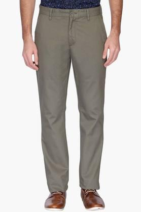 STOP Mens 4 Pocket Solid Chinos - 201619152