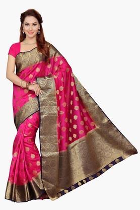 ISHINWomens Poly Silk Brocade Saree - 201628900
