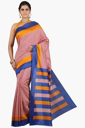 JASHNWomen Tussar Silk Printed Saree - 201860672
