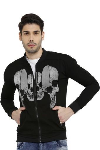 Mens Mandarin Neck Printed Sweatshirts