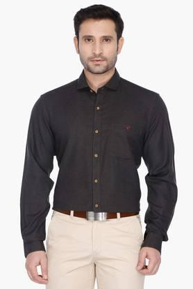 Wills Life Style Formal Shirts (Men's) - Mens Regular Collar Solid Shirt